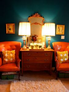 More orange, this time with teal. I am in heaven!