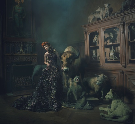Photographer: Miss Aniela / Model: Kim Davis / Dress created by Kirsty Mitchell Photography / Stylist: Minna Attala / Hair: Anne Veck / Makeup: Grace Gray / Photographer's assistants: Greg Sikorski, Matt Lennard, Ian Mears