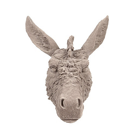 Grey flocked donkey head from www.abigailahern.com.
