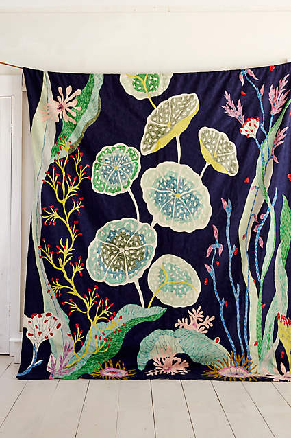 Waterblooms Crewelwork Rug by anthropologie.