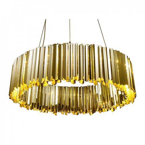Facet 60 Round Chandelier Pendant Brass by Innermost £8,250 www.heals.com