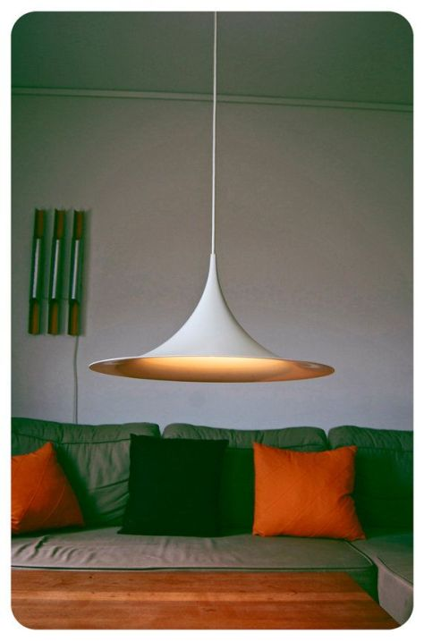 Danish design hanging lamp. Semi by Claus Bonderup and Torsten Thorup 1968. (pinterest)