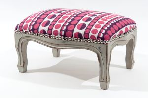 Step 8: The finished foot stool transformed into something really rather lovely. Definitely something to be proud of!