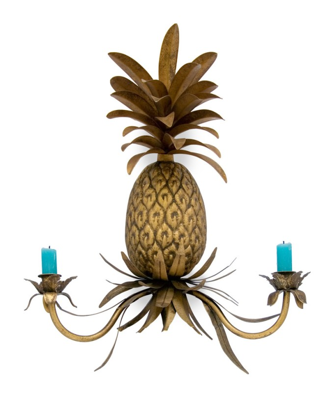 Pineapple wall sconce from www.abigailahern.com.