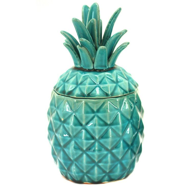 Large Turquoise Sofie Pineapple Container. (templeandwebster.com.au)
