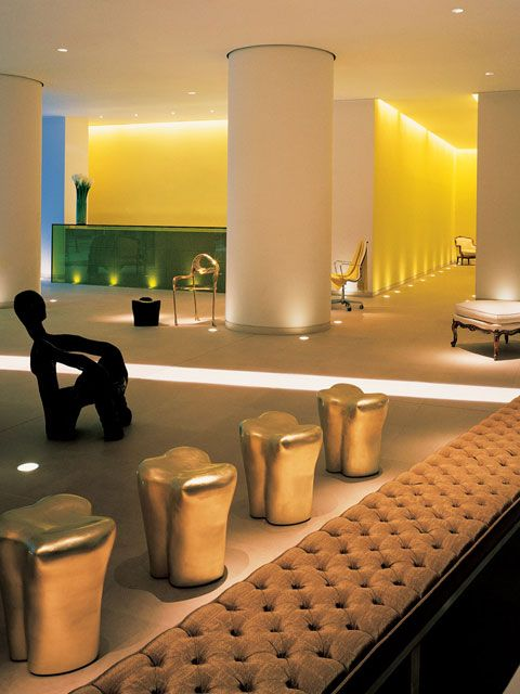 Aim high. The foyer at St Martin's Lane Hotel, designed by Philippe Starck. http://www.starck.com/