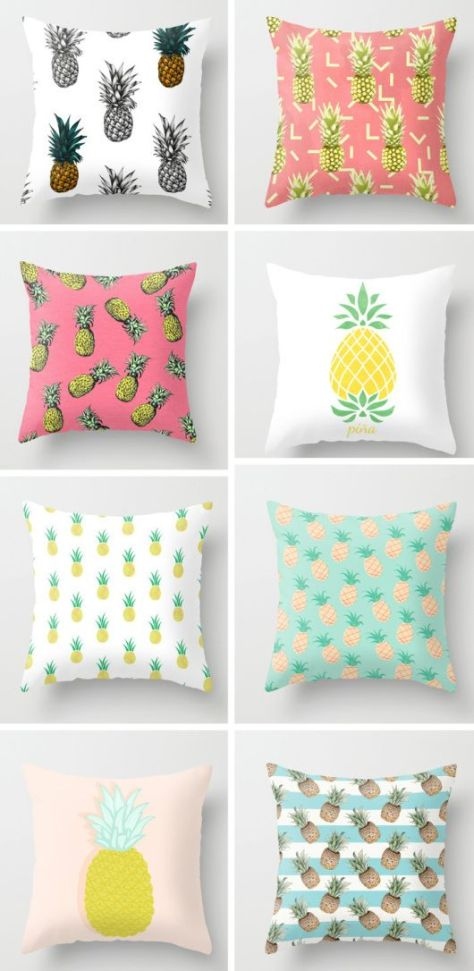 Pineapple cushions. (decor8blog.com)