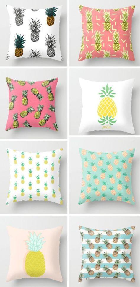 Pineapple cushions. (decor8blog.com)