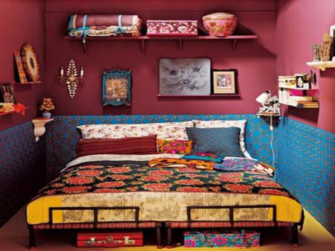 Interiors a la Frida. (pinterest)