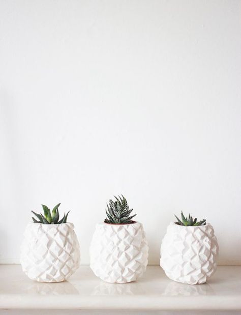 Pineapple vases. (bloglovin.com)