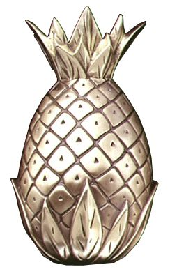 Pineapple Door Knocker. (capecodweathervanecompany.com)