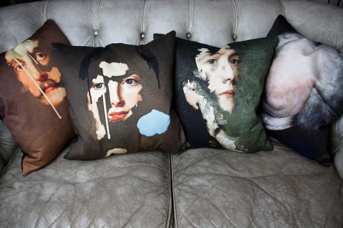 Lady Peacock cushions. (www.mineheart.com)