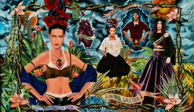 Jean Paul Gaultier and Frida. (pinterest)