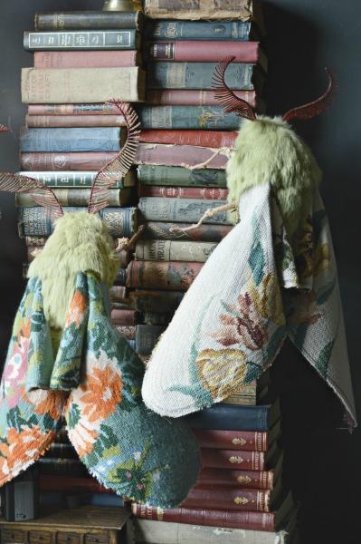 Oversized moths by textile artist Mr Finch. (www.mister-finch.com)