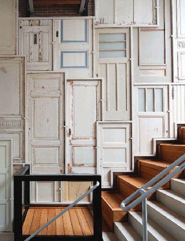 Repurposed doors. (remodelista)