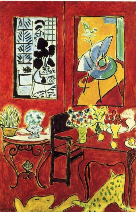 Henri Matisse ~ Large Red Interior, 1948. (pinterest)