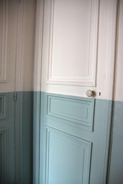 Two-tone door. (pinterest)